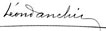 signature Leon Danchin