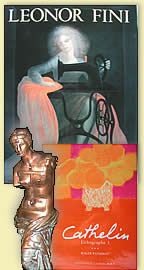 Art cadre Salvador DALI Leonor FINI Jean-Michel FOLON Leon DANCHIN Rene MAGRITTE graphics drawings paintings sculptures posters Art books jewelry